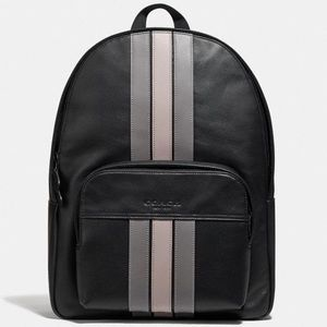 Houston Leather Backpack With Varsity Stripe $550